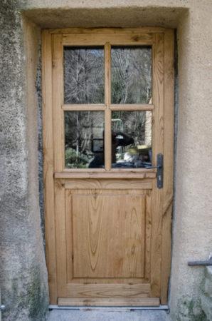 Porte d'entrée châtaignier